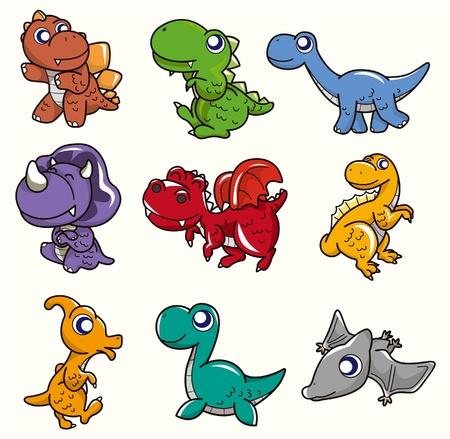 cartoon Dinosaur icon Vector