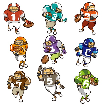run down: cartoon football player icon