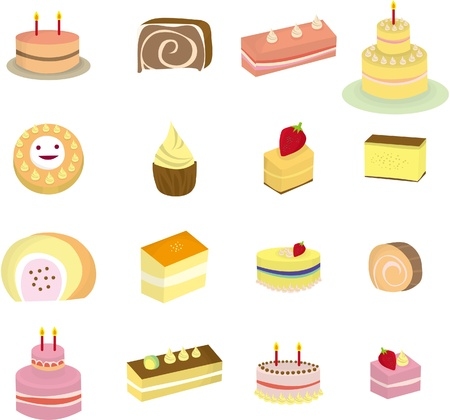 cartoon Cake icon Stock Vector - 8579381