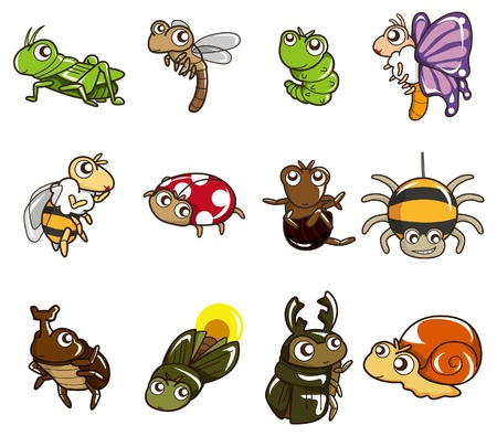 cartoon bug icon Vector