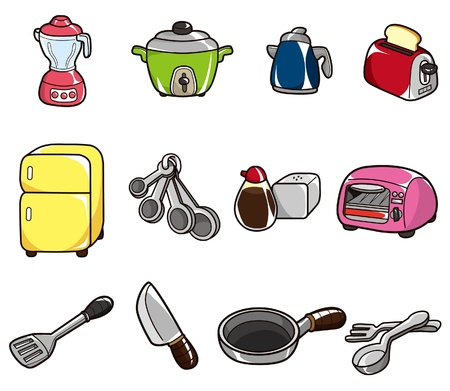 kitchen appliances: cartoon kitchen icon