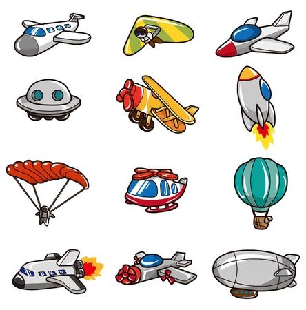 ballon dirigeable: Cartoon avion ic�ne