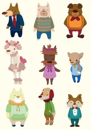 cartoon dog icon Stock Vector - 8579334