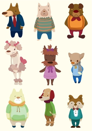 cartoon dog icon