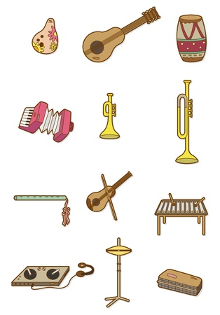 cartoon Musical instrument icon Vector
