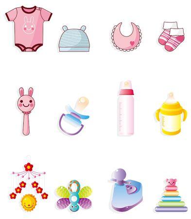 pezones: icono de beb� de dibujos animados