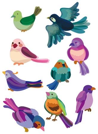 cartoon bird icon Vector