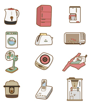 cartoon Home Appliances icon Vector