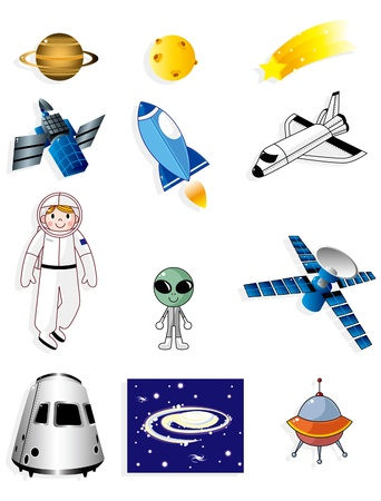 cartoon space icon Vector