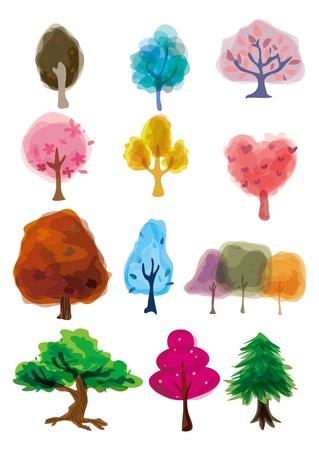 cartoon tree icon Vector
