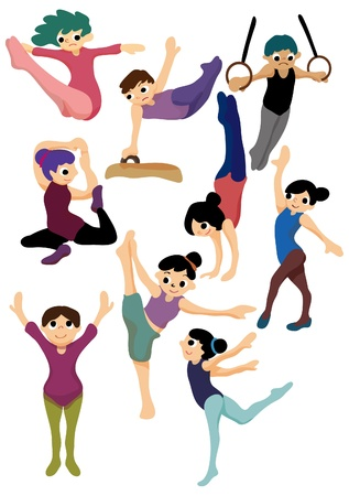 cartoon gymnastic icon Vector