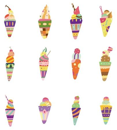 helado caricatura: icono de helado de dibujos animados