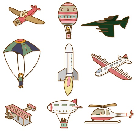 airship: cartoon air transport icon