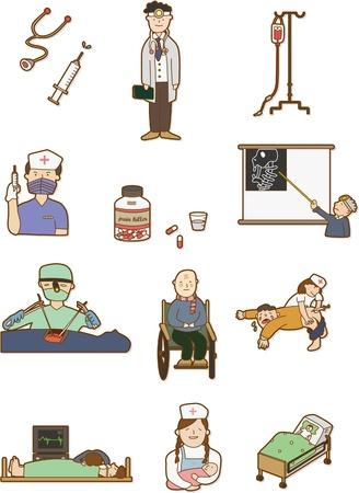 hopital cartoon: Cartoon h�pital ic�ne