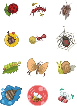 fireflies: cartoon bug icon