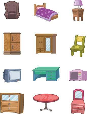 cartoon meubilair pictogram
