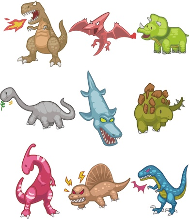 cartoon Dinosaur icon Stock Vector - 8579319