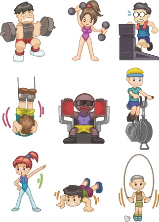 exercise cartoon: cartoon Gym icon Illustration