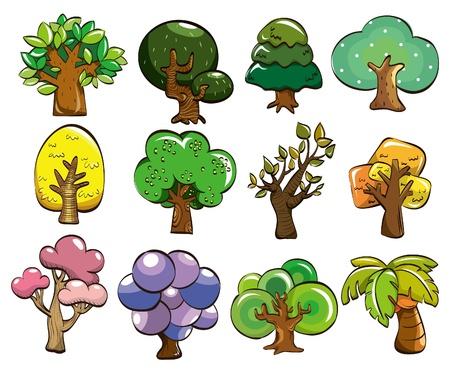 cartoon tree icon Stock Vector - 8579385