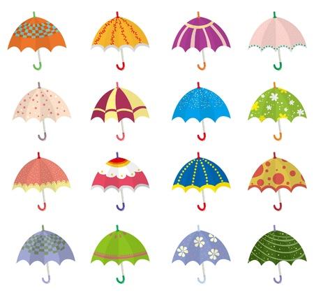 cartoon umbrella: cartoon umbrella icon Illustration