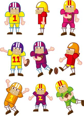 cartoon Football player icon Vector