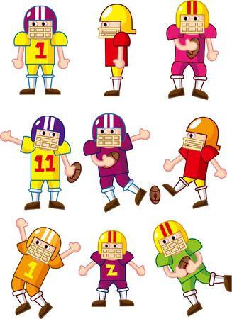 stumble: cartoon Football player icon