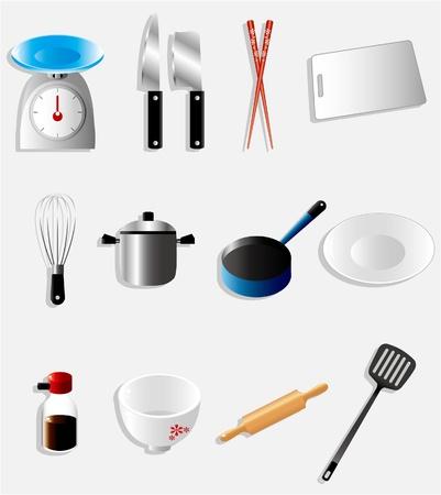 chopsticks: cartoon kitchen icon