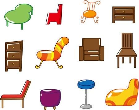 cartoon furniture icon Vector