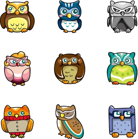 cilp: cartoon owls icon