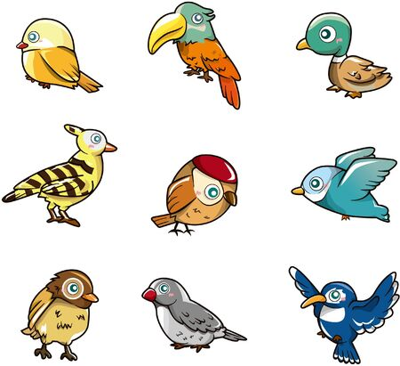 cilp: cartoon bird icon Illustration