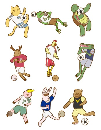 cartoon animal soccer icon Vector