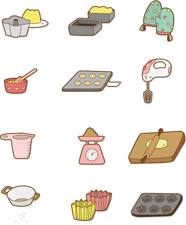 cartoon Bake icon Vector