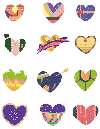 cilp: cartoon Heart icon Illustration