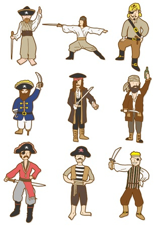 cartoon Pirate icon Stock Vector - 8579302