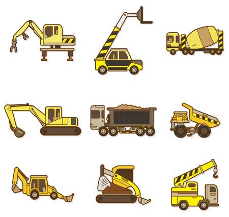 cement truck: cartoon Truck icon