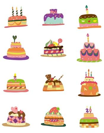 magdalenas: icono de pastel de patr�n de dibujos animados Vectores