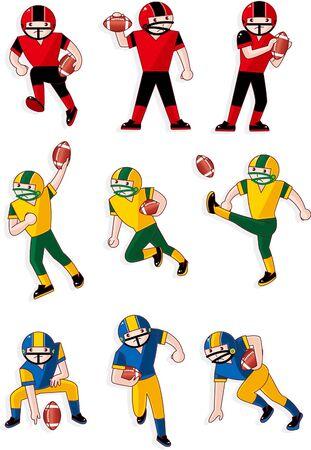 cartoon football player: cartoon football player icon  Illustration