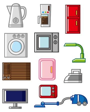 coffee machine: cartoon home appliances icon  Illustration