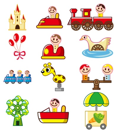 cartoon Playground icon Stock Vector - 8598794