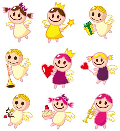 angel cartoon: cartoon angel icon