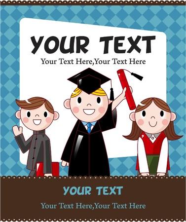 diplom studen: Studentenausweis  Illustration