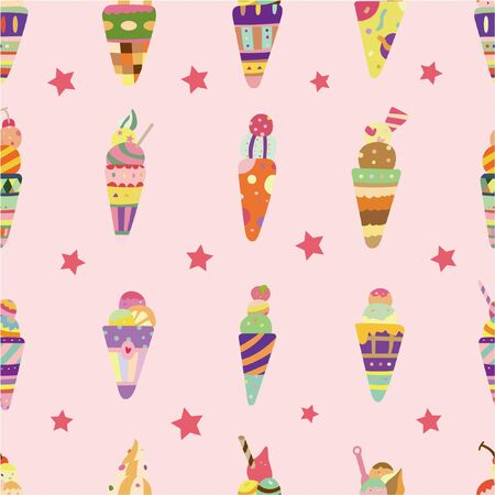 seamless ice cream pattern  Stock Vector - 8598810