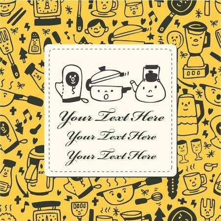 tarjeta de cocina  Ilustración de vector