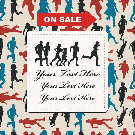 silhouette sale card  Stock Vector - 8598859