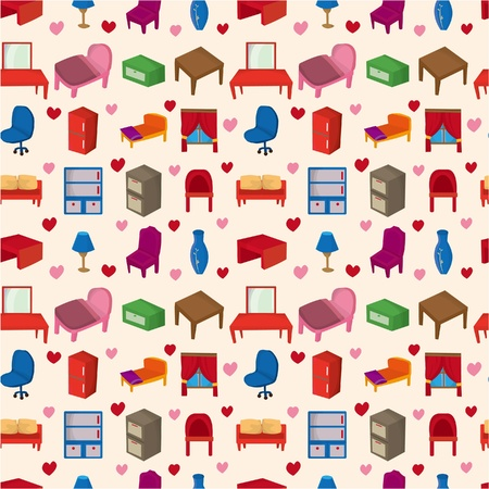 seamless Furniture pattern  Stock Vector - 8598857