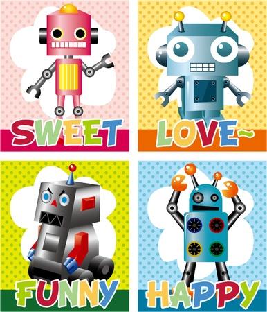 robot card  Stock Vector - 8598850