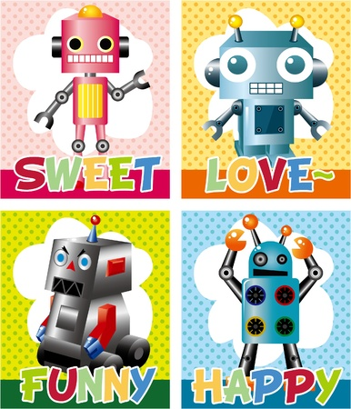 robot card Stock Vector - 8598850