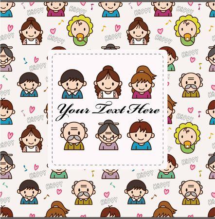 family card  Stock Vector - 8598882