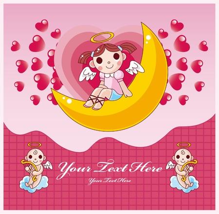 moon angels: Valentine card