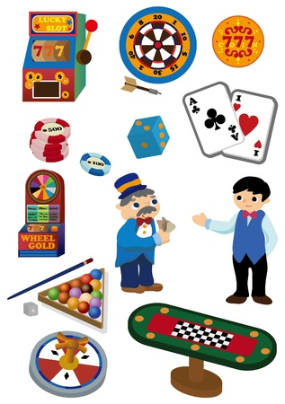 cartoon Casino icon  Vector